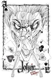 Small Picture Joker And Harley Quinn Coloring Pages Perfect Coloring Joker And