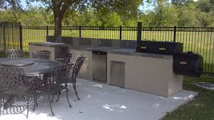 outdoor kitchen designs with smoker awesome ideas island low