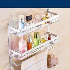 harga murah bathroom toilet rack non perforated shelves for wall strong and durable shelf organizer