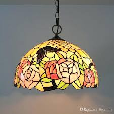 tiffany glass lamp shade restaurant chandelier coffee lighting table antique internet cafe entrance red pendant light pendent lights sta