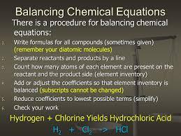 14 balancing chemical