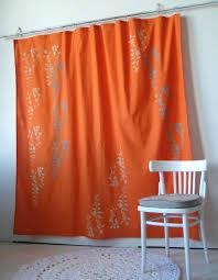 Gray And Orange Chevron Shower Curtain Shower Curtain Ideas