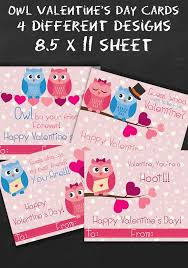 owl valentine s day cards to print.  Valentine Looking For Some Free Adorable Printable Valentines Day Cards We Have  That Youu0027 To Owl Valentine S Cards Print N