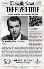 Newspaper Template Psd 1 Page Newspaper Template Adobe Photoshop 11x17 Inch