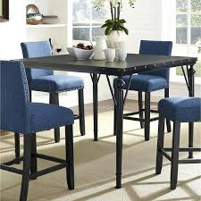 nailhead dining table counter height espresso wood dining table with metal frame brown nailhead round dining