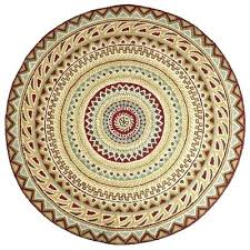 fair isle round rug red for living room circular kitchen rugs