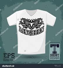 Longhorn T Shirt Designs Longhorn Western T Shirt Vector Design Stock Vector Royalty
