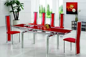 Small Picture Glass Dining Tables Luxor Extendable Red Glass Dining Table