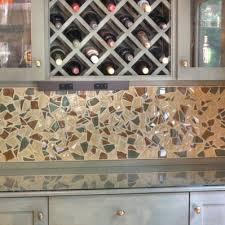 202 broken glass tile backsplash