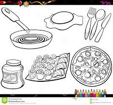 P Gina Fijada Objetos Del Colorante De La Comida Ilustraci N Del