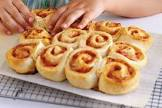cheese and ham scrolls