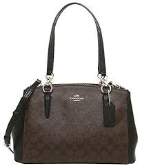 Coach F36619 Small Christie Carryall In Signature Satchel BROWN BLACK by  Coach