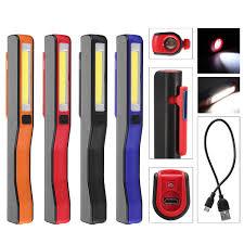 Magnetic Pocket Light Portable Led Cob Rechargeable Pocket Work Light Magnetic Pen Clip Camping Car Inspection Flashlight