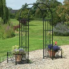 large image for chic metal garden arch 86 with planters metal arches nz bench seat