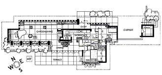 2ndFloor Plan  Growing Up In A Frank Lloyd Wright House By Kim Frank Lloyd Wright Floor Plan