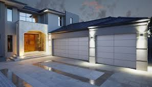 flat panel glass acrylic flush mounted garage doors