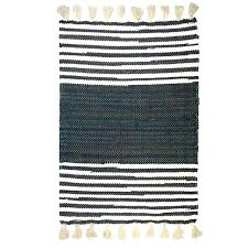black and white striped hand woven cotton rag design area rugs rug