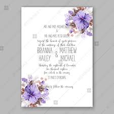 Birthday Card Sample Delectable Violet Hibiscus Wedding Invitation Vector Tropical Flower Template