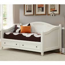 White Wooden Twin Size Daybed With Drawers of Wonderful Wooden Twin ...