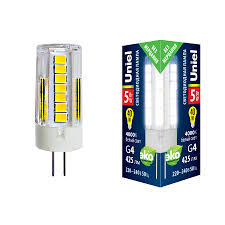 <b>Лампа</b> светодиодная (UL-00006745) <b>Uniel G4</b> 5W 4000K ...