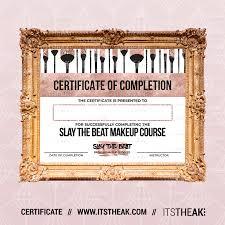 makeup training cl certificate of