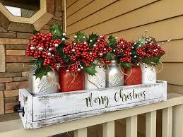 Christmas Decorated Mason Jars mason jar christmas centerpiece christmas centerpiece 95