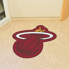 miami heat nba mascot mat at khc sports