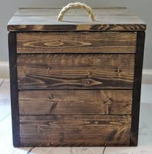 square wooden toy storage box
