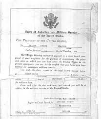 the united states drafted solrs during world war i this is an exle of a selective service letter which young men received when they were