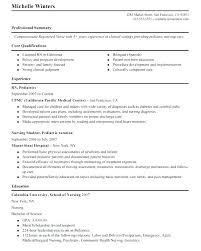 Oncology Rn Resume Pediatric Nursing Resume Mmventures Co