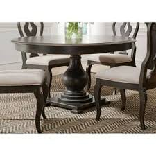round dining table for 6. Exellent For Chesapeake Wire Brushed Antique Black 48x60 Pedestal Dinette Table On Round Dining For 6 I