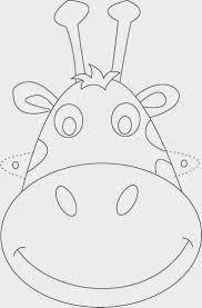 Giraffe Mask Printable Coloring Page For