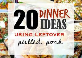 leftover pulled pork