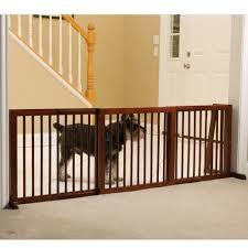 the extra wide free standing pet gate (small)  hammacher schlemmer