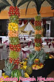 Fruit Palm Tree Hire  Chocolate Fountain HireFresh Fruit Tree Display