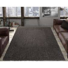 contemporary solid dark grey 8 ft x 10 ft area rug