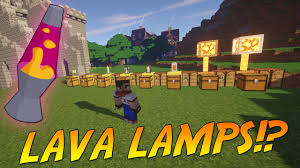 Lava Lamps In Minecraft 19 Lux Lighting Mod Showcase Youtube