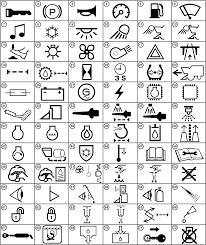 Ponent electrical symbols definitions omkk11527 chart n1