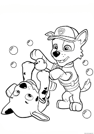 Print Paw Patrol Rocky And Marshall Coloring Pages Coloring Pages