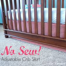 Crib Skirt Pattern Beauteous No Sew Adjustable Crib Skirt Creative Ramblings