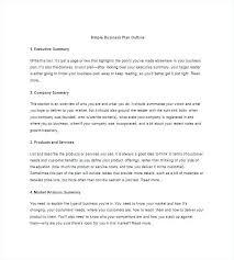 Executive Summary Outline Marketing Strategy Document Template Company Strategic Plan