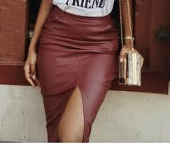 classy midiskirt skirt leather skirt burdy skirt split skirt