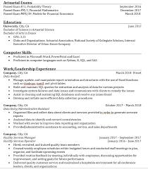 Resume Critique For A Career Changer Somewhat Recent Grad Actuary Magnificent Resume Critique