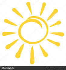 Yellow Round Light Yellow Sun Rays Contour Light Stock Photo