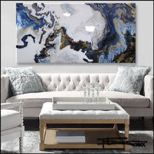 abstract modern painting canvas wall art extra large resin framed us eloisexxx on large canvas wall art ebay with large up to 60in blue us art paintings ebay