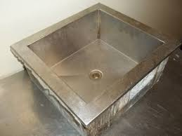drop in ice well insulated sink cold food countertop steam table