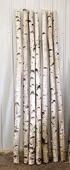 """Decorative Birch Poles 4ft (4 Poles 1 1/2""""-2 1/"""