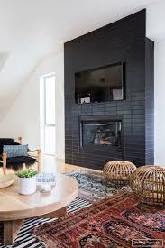 Brick Fireplace Mantel Best 25 Black Fireplace Ideas On Pinterest Black Fireplace