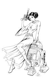 Princess leia mission inked by dawn mcteigue traditional art drawings people dawn mcteigue heres an inked version of an mission of princess