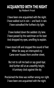 acquainted the night by robert frost poems wishes   acquainted the night by robert frost